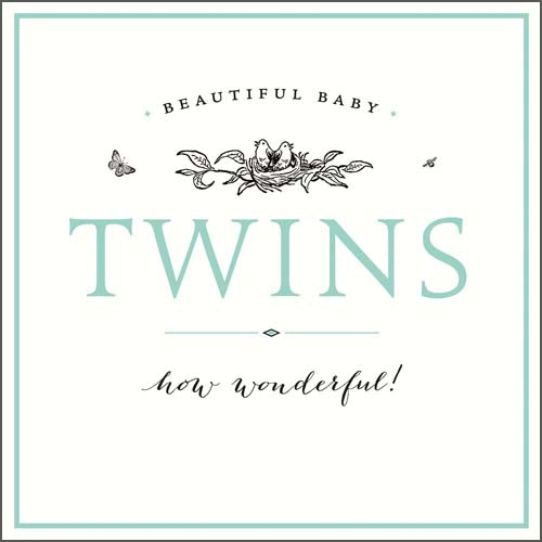Twins Double Congratulations Card - Pigment Productions