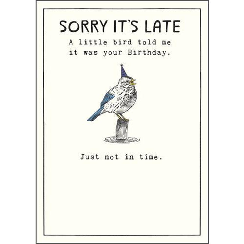 Little Bird Told Me Birthday Card - Pigment Productions