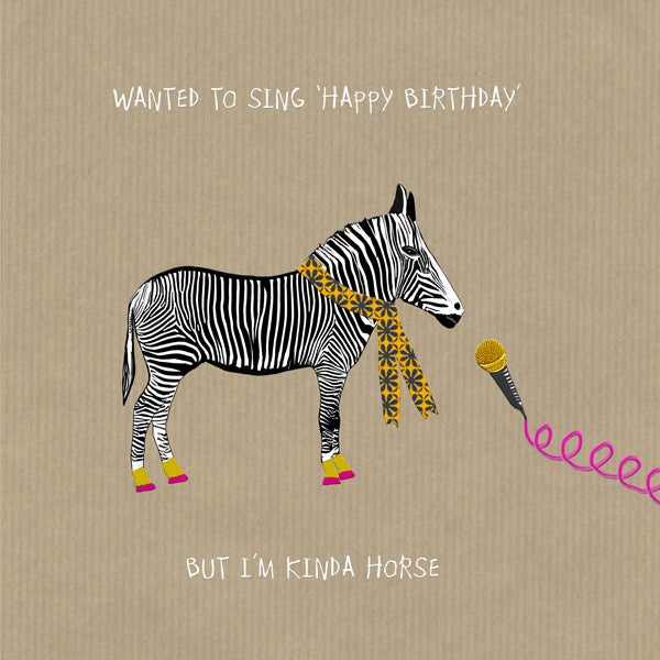 Kinda Horse Birthday Greeting Card - Sally Scaffardi
