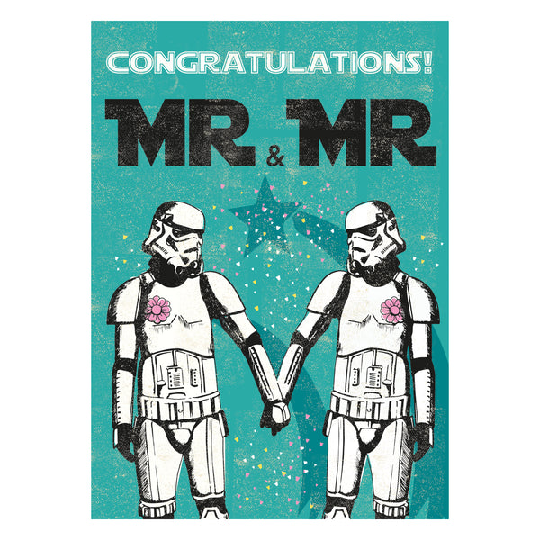 Mr and Mr Greeting Card - Rocket 68 Stormtrooper