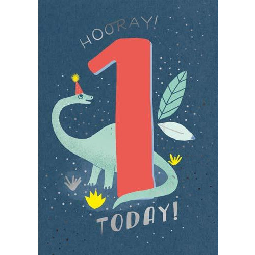 1 Whoosh Boy Today! Dinosaur Birthday Card - Pigment Productions