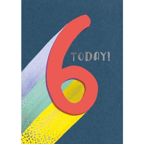 6 Whoosh Boy Today! Stripes Birthday Card - Pigment Productions