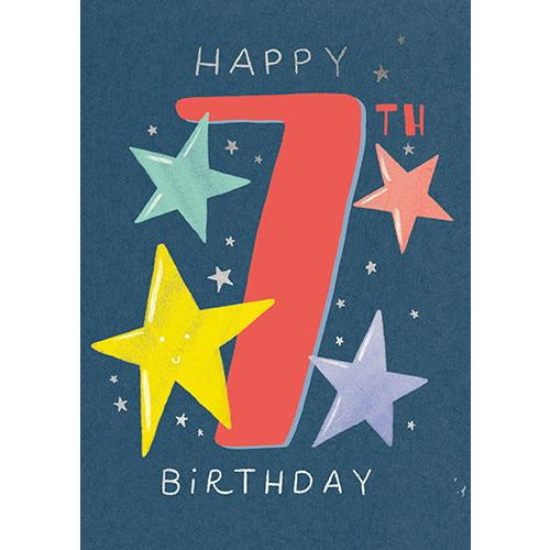 7 Whoosh Boy Stars Birthday Card - Pigment Productions
