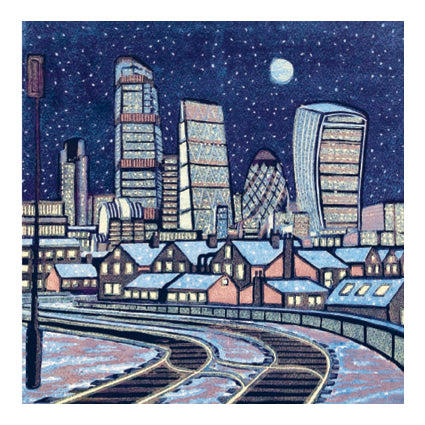 London Snow Greeting Card - Canns Down Press by Gail Brodholt