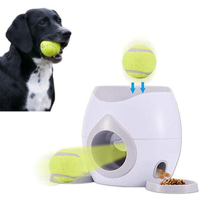 Spotty Pet™ 2 In 1 Automatic Ball Launcher with Food Dispenser