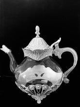 Load image into Gallery viewer, Hadassah's Silver & Clear Glass Teapot