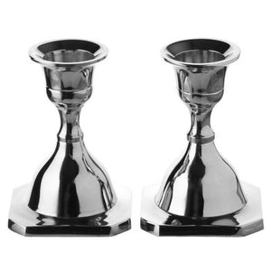 Candle Stick Set of 2 Nickel Plated (5063971897479)
