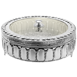 Enclosed Silver Plated Matzah Holder (5256418394247)