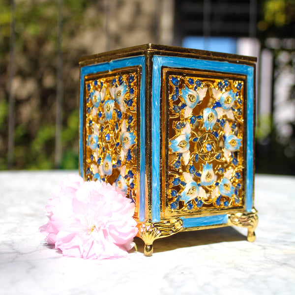 Pretty in Blue - Tzedaka Box (6558083317895)