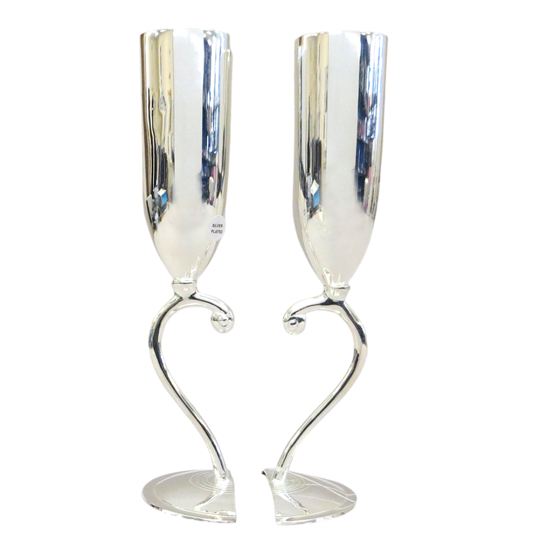Silver Plated Wedding Kiddush Cups (5209388482695)