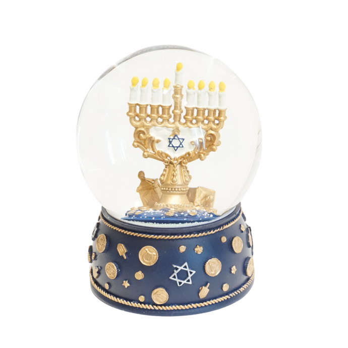 Bronze Menorah Snow Globe (5225770451079)