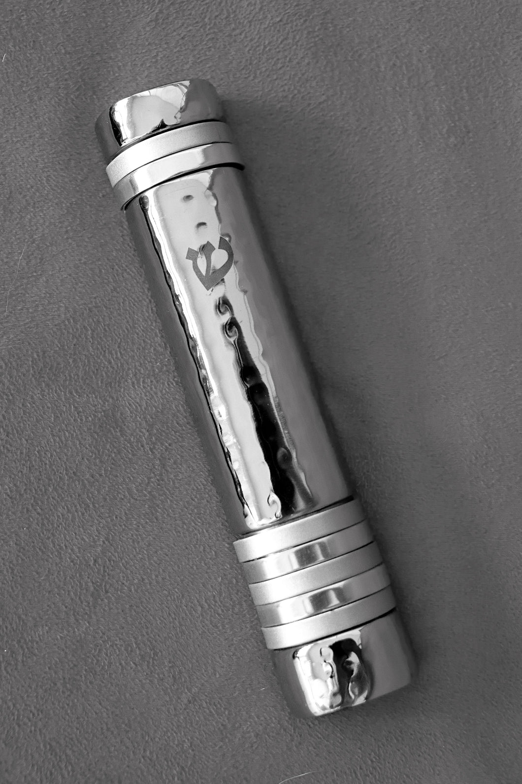 Silver & Stainless Steel Mezuzah Cover