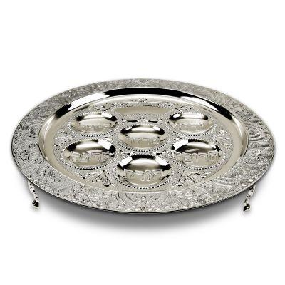 Filigree Seder Plate with Legs (6543765864583)