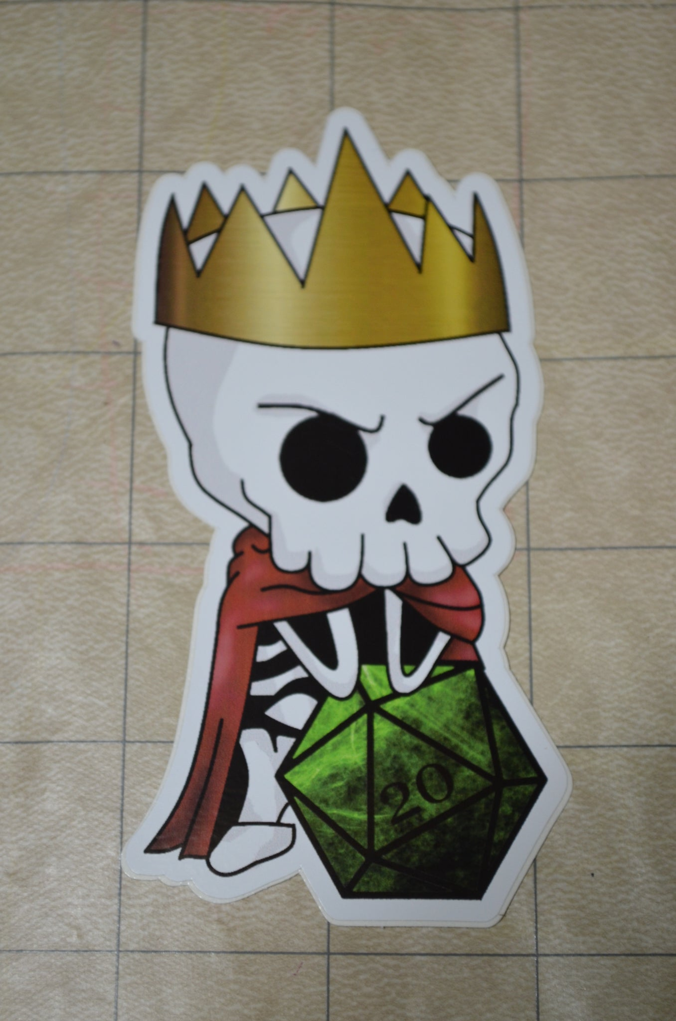 Lich King D20 Sticker