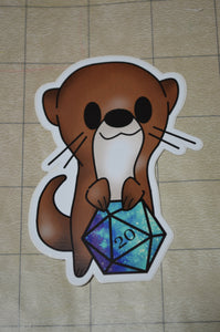 Otter D20 Sticker