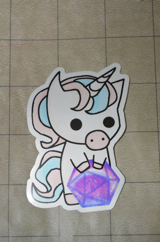Unicorn D20 Sticker