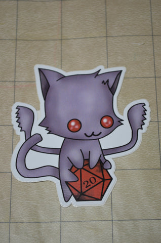 Displacer Kitty D20 Sticker