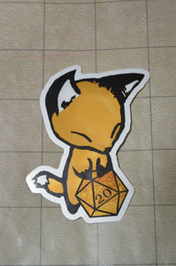 Fox D20 Sticker