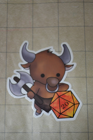 Minotaur D20 Sticker