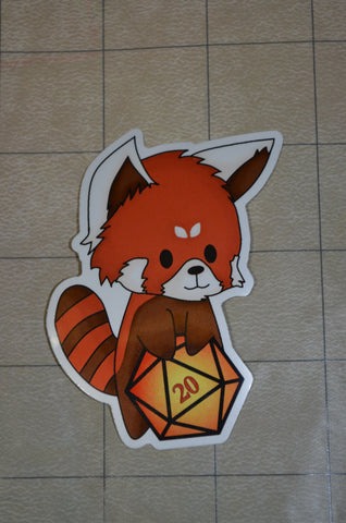 Red Panda D20 Sticker