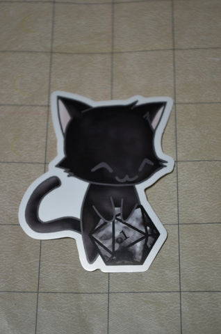 Black Cat D20 Sticker