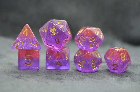Preorder Leviathan Dice Fusion Red/Purple Exclusive Dice Set