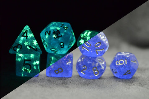 Leviathan Sapphire Stars Exclusive Dice Set