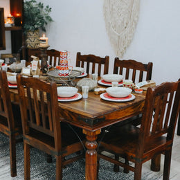 8 Seater Thakat Acacia Walnut Dining Table