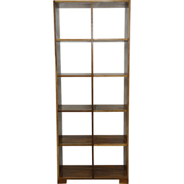 Vertical Walnut Sheesham Cube Shelf