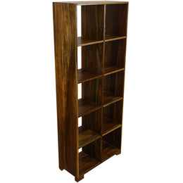 Shelf Cube Acacia Walnut 5X2 79x35x198cm vertical