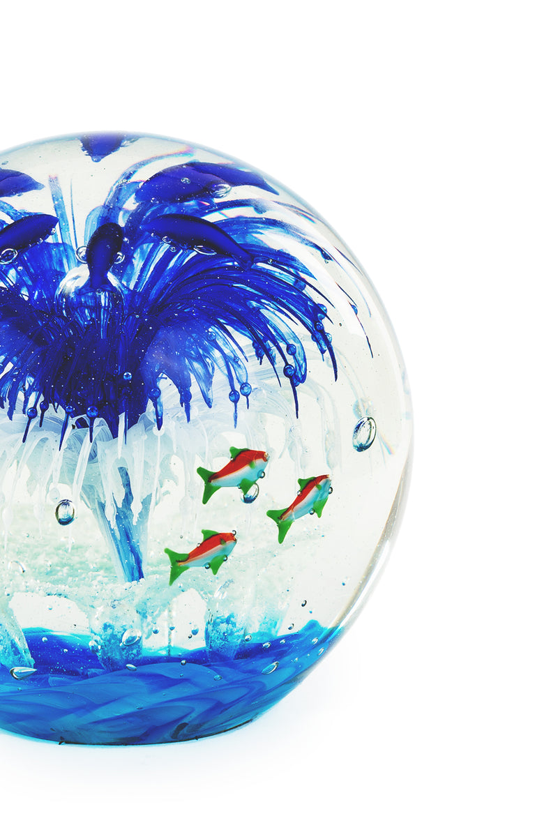 Glow-in-the-Dark Glass Fishbowl Paperweight