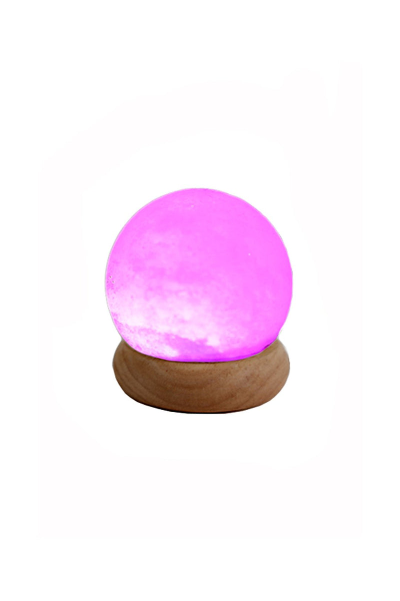 Mini Sphere USB Salt Lamp - Colour Changing