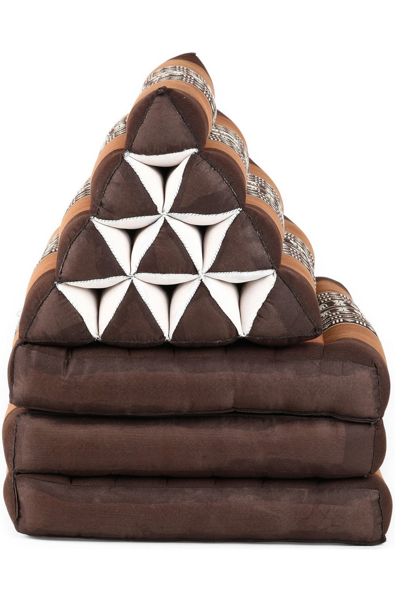 Brown Tone Elephant Large Thai Cushion