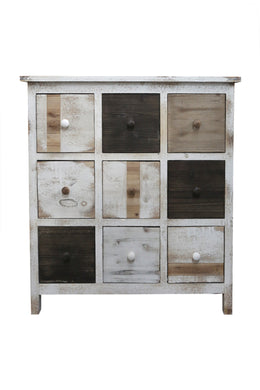 Square Grid 9 Drawer Cabinet