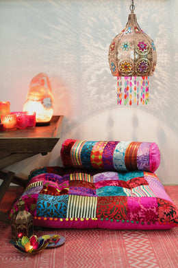 Multi Patchwork Floor Cushion