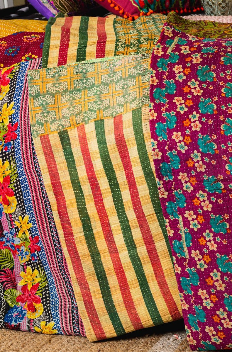 Assorted Kantha Cotton Bedspread