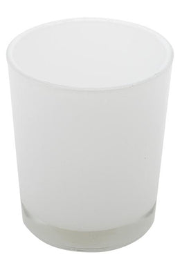 White Glass Votive Candle Holder