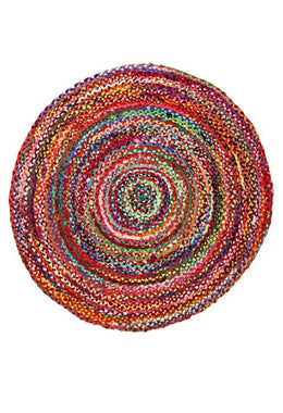 200cm Round Braided Chindi Rug