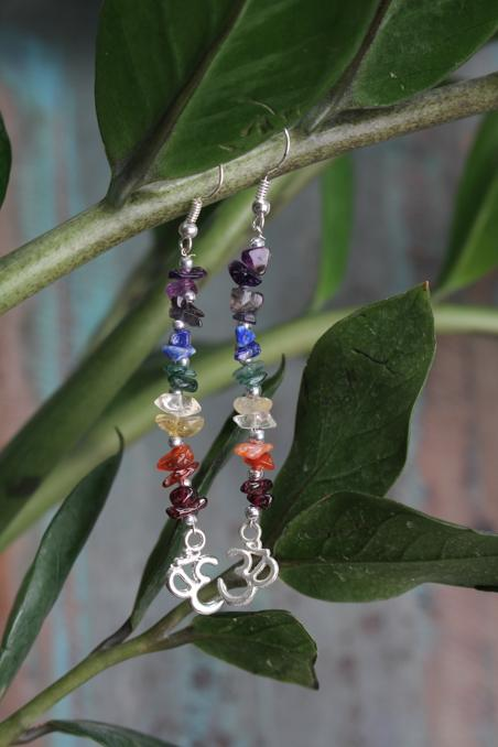 Earrings Chakra Om Charm