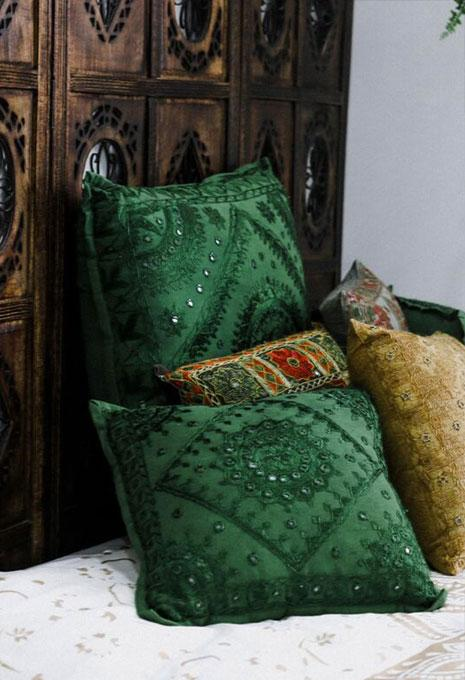 Large Green Pakka Cushion