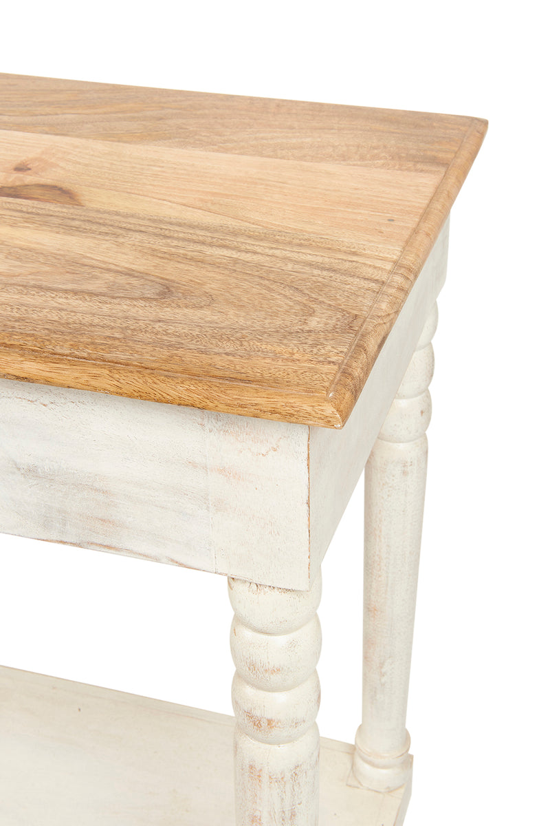 Marseille White Wash Console Table