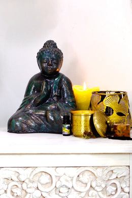 Green Ceramic Buddha Statue
