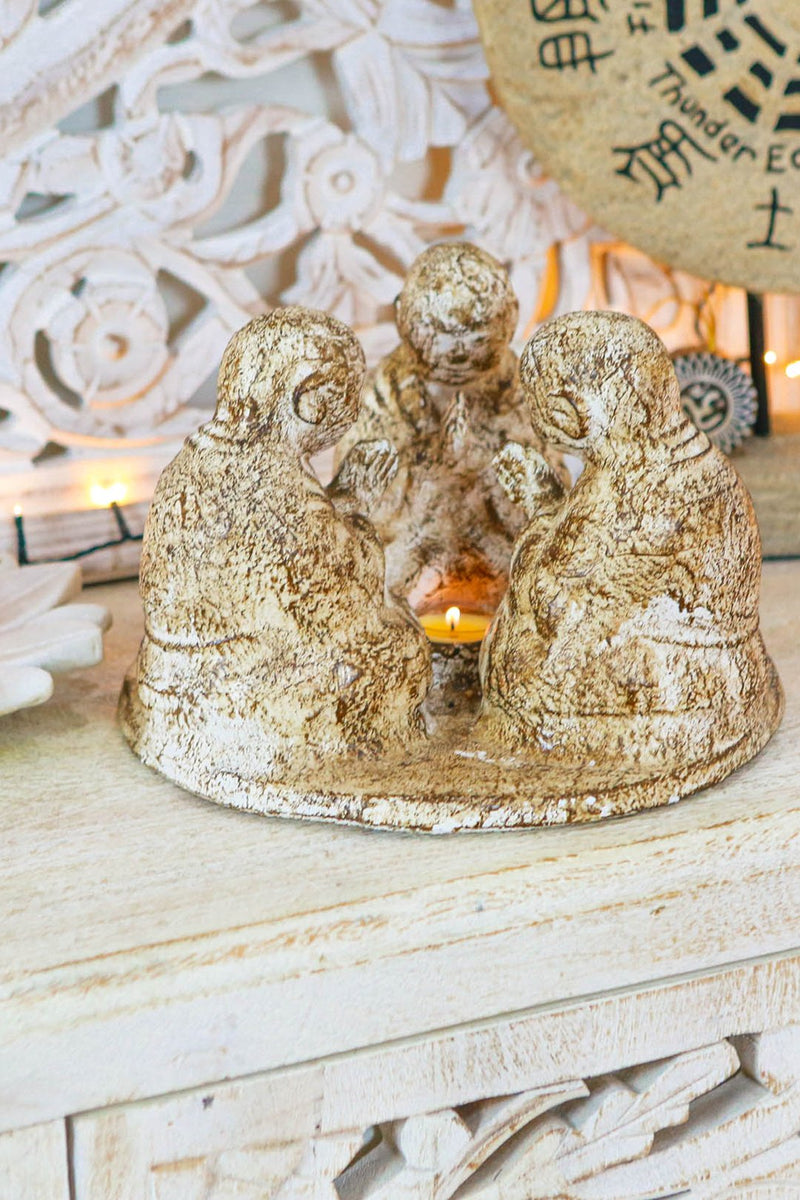 Circle of Buddha Candle Holder