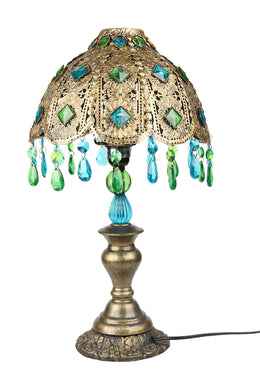 Green & Blue Beaded Lamp