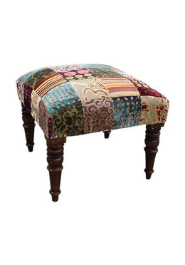 Rayon Velvet Patch Stool