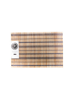Bamboo Natural Blue Trim Placemat 30x45cm