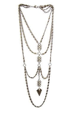 Linked Multi Chain Necklace