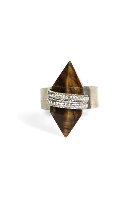 Ring Adjustable Crystal Point