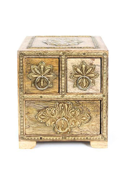 Box Drawer 3 Natural Brass Work