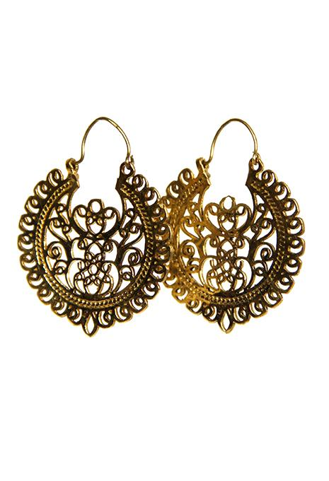 Ornate Brass Earrings